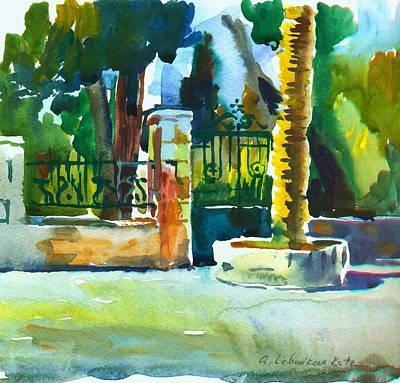 Painting - The Gate At Stella Maris by Anna Lobovikov-Katz
