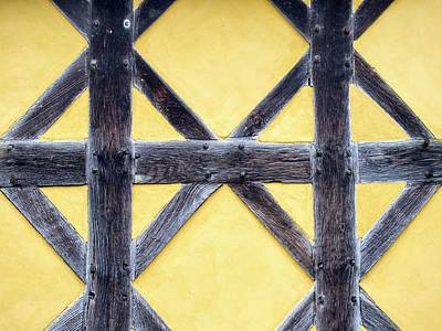 Wood Carving Photograph - The Gate House At Stokesay Castle by Ashley Cooper