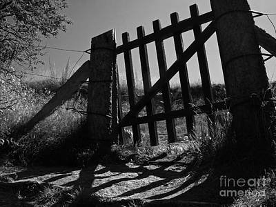 Art Print featuring the photograph The Gate by Inge Riis McDonald