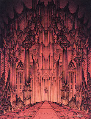 The Gates Of Barad Dur Art Print