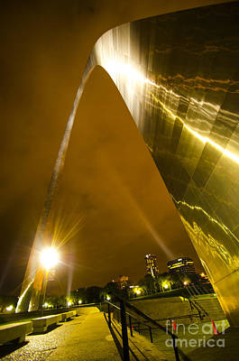 Photograph - The Gateway Arch At Night St. Louis Missouri by Deborah Smolinske