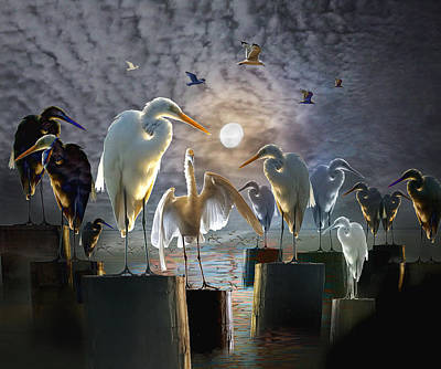 Flock Of Bird Photograph - The Gathering by Randall Nyhof