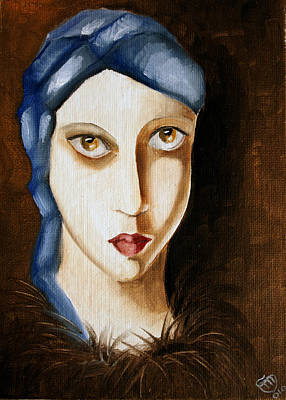 Painting - The Gaze by Simona  Mereu