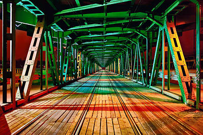 Photograph - The Gdanski Bridge by Tomasz Dziubinski