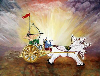 Mahabharata Painting - The Geeta 2 by Chandresh Patel