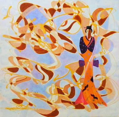 Private Dancer Painting - The Geisha by David Mintz