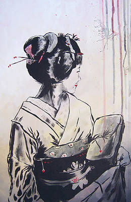 The Geisha Art Print by Michael Leporati
