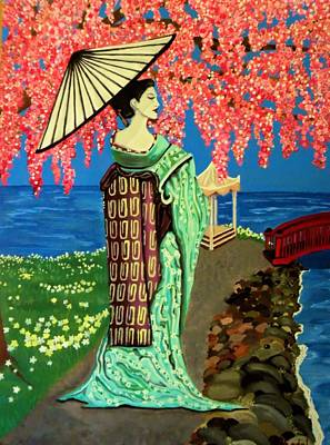 The Geisha Art Print