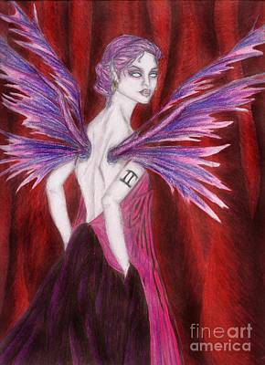 Wiccan Drawing - The Geminii Faery by Coriander  Shea
