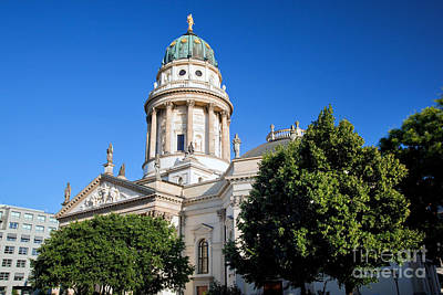 Blue Photograph - The Gendarmenmarkt by Michal Bednarek