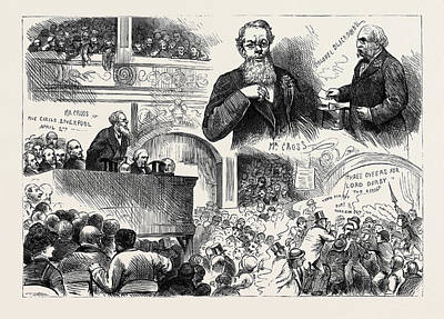 The General Election Conservative Meeting At Henglers Art Print