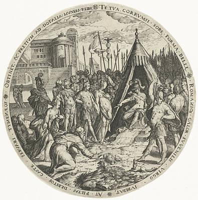 The Generosity Of Scipio, Zacharias Dolendo Art Print by Zacharias Dolendo And Hendrick Hondius (i)