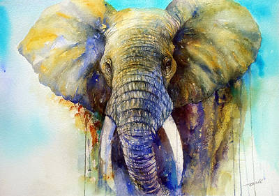 Figurative Painting - The Gentle Giant by Arti Chauhan