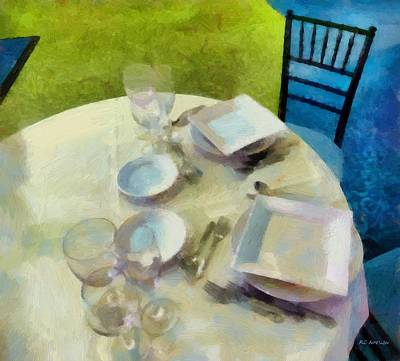 Tableware Painting - The Geometry Of The Table by RC deWinter