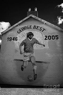 The George Best Memorial Mural On The Lower Cregagh Road In Belfast Northern Ireland Art Print by Joe Fox