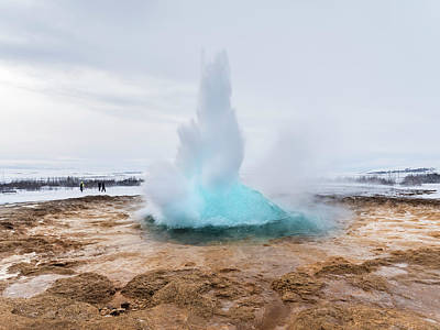 Golden Circle Photograph - The Geothermal Area Haukadalur, Part by Martin Zwick