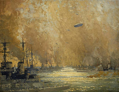 New Glasgow Photograph - The German Fleet After Surrender, Firth Of Forth, November 1918 by James Paterson