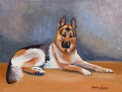 The German Sheppard Art Print