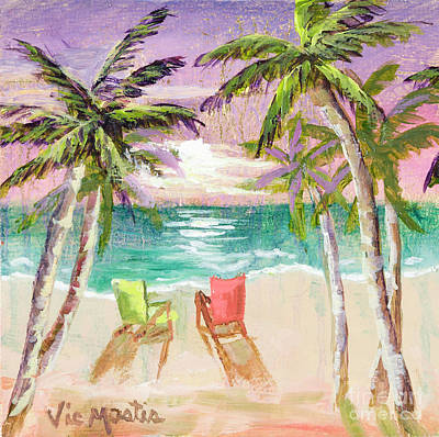 Painting - The Get Away by Vic  Mastis