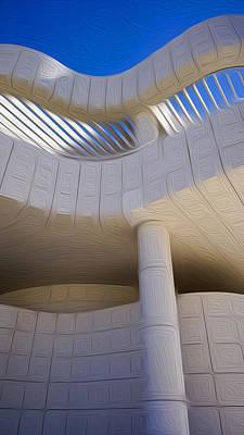 Digital Art - The Getty Museum #3 by Joe Michelli