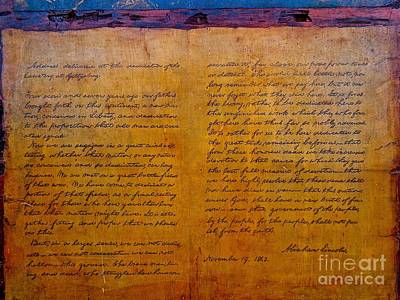 Photograph - The Gettysburg Address By Abraham Lincoln by Saundra Myles
