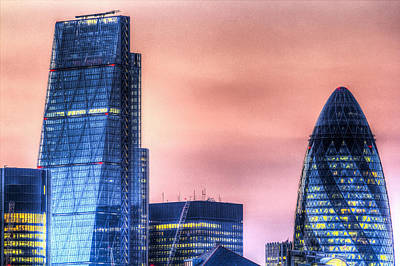 Photograph - The Gherkin And The Cheesgrater London by David Pyatt