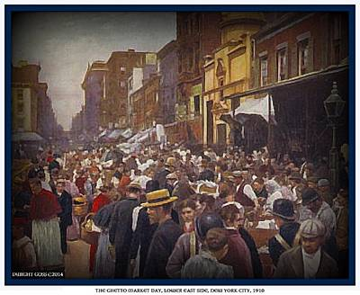 Painting - The Ghetto Market Day- New York City- 1910 by Dwight Goss