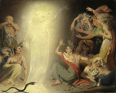The Ghost Of Clytemnestra Awakening The Furies Signed Art Print by Litz Collection