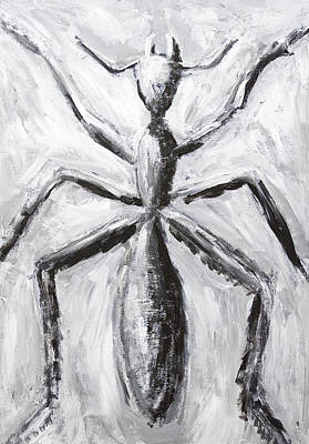 Abstact Realism Painting - The Giant Cave Ant by Kazuya Akimoto