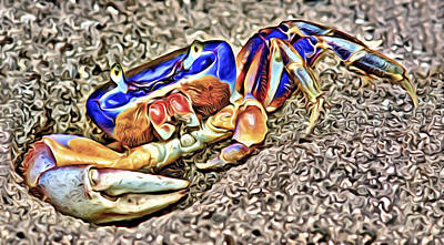 Digital Art - The Giant Land Crab 1 by Patrick M Lynch