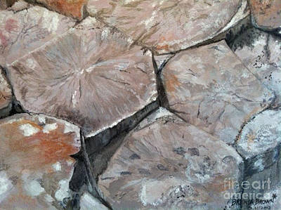 Painting - The Giant's Causeway by Brenda Brown