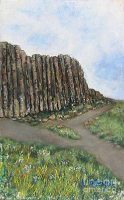 Painting - The Giant's Causeway by Laurie Morgan