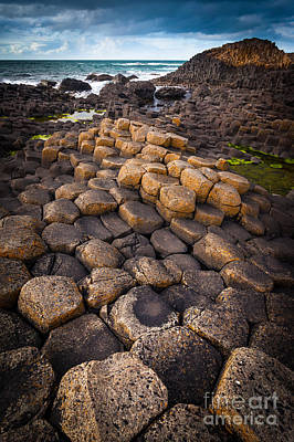 Photograph - The Giant's Causeway - Rocky Road by Inge Johnsson