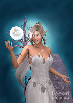 Ball Gown Digital Art - The Gift by Elle Arden Walby