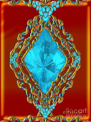 The Gift - Jewellery Art By Giada Rossi Print by Giada Rossi