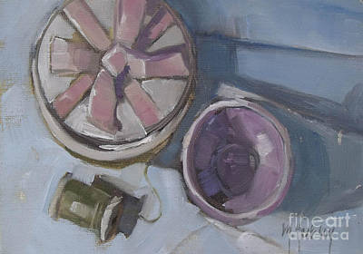 Spool Painting - The Gift by Mary Hubley