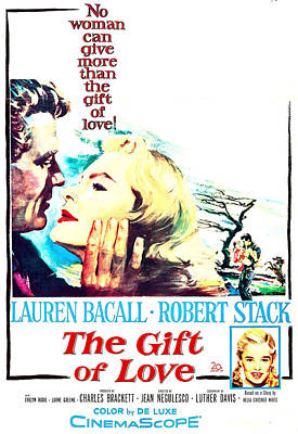 Bacall Photograph - The Gift Of Love, Us Poster, Robert by Everett