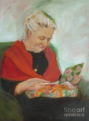 Painting - The Gift by Sally Simon