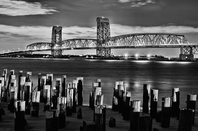 Moonlit Night Photograph - The Gil Hodges Bridge by JC Findley