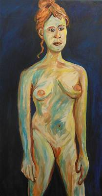 Metal Sheet Painting - The Ginger Girl by Esther Newman-Cohen