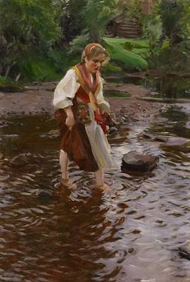 The Girl From Alvdalen Art Print by Anders Zorn