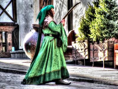 The Church Mixed Media - the girl from Tallinn by Yury Bashkin