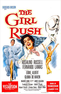 1955 Movies Photograph - The Girl Rush, Us Poster, Rosalind by Everett
