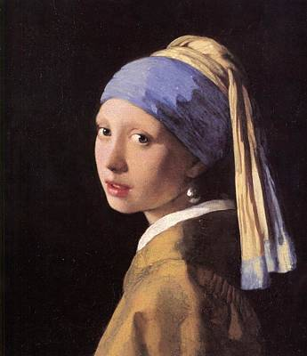 Girl With A Pearl Earring Painting - The Girl With A Pearl Earring by Johannes Vermeer