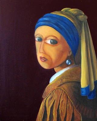 Painting - The Girl With A Pearl Earring Vg by Estefan Gargost