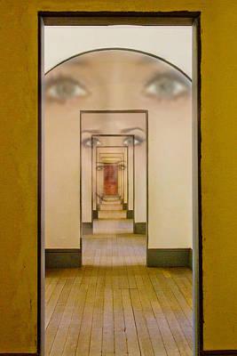 Digital Art - The Girl With Far Away Eyes by Bill Gallagher