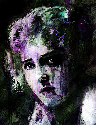 Impressionistic Mixed Media - The Girl With The Curls by Gary Bodnar