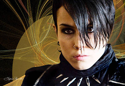 The Girl With The Dragon Tattoo Photograph - The Girl With The Dragon Tattoo by Sylvia Thornton