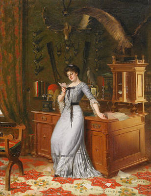 Knut Painting - The Girl With The Letter by Knut Ekwall