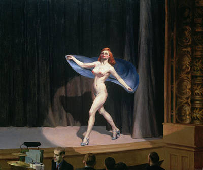Nudes Painting - The Girlie Show by Edward Hopper